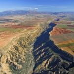 Vista aérea del río Gor.