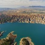 Vista aérea del Pantano del Negratín.